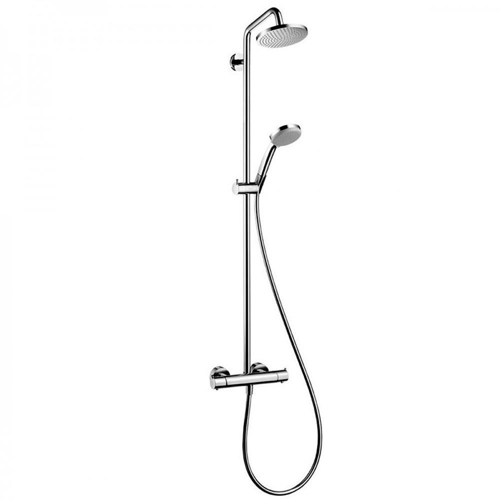 hansgrohe croma 160 showerpipe ecostat comfort doucheuitvoering chroom. Black Bedroom Furniture Sets. Home Design Ideas